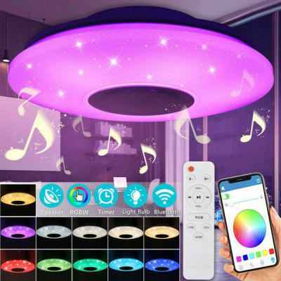 60W RGB LED Ceiling Light bluetooth Music Speaker Lamp Remote APP Control