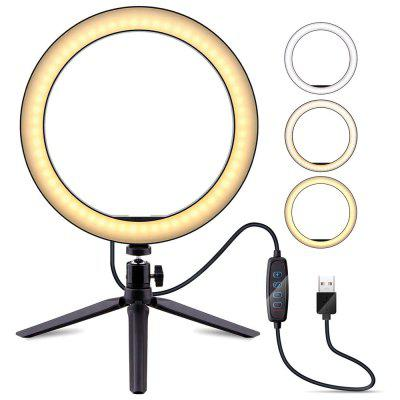 ZDM 6.3-10inch Selfie Ring Light with Tripod Stand Dimmable Desktop LED Lamp Camera Ringlight DC5V