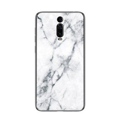 LEEHUR Marbled Glass Phone Case for Redmi K20
