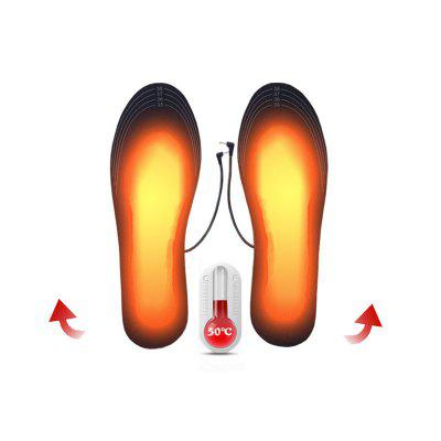 LEEHUR   USB Charging Heating Insole Electric Heating Foot Treasure Can Be Washed And Cut