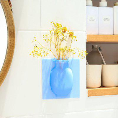 LEEHUR Creative Magic Bottle Suction Cup Wall Hanging Soft Vase Silicone  Vase
