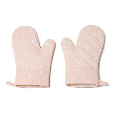 LEEHUR Kitchen Microwave Oven Gloves Silicone High Temperature Baking Oven Special Anti-hot Gloves