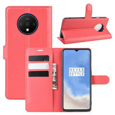 LEEHUR Litchi Pattern PU Leather Phone Case for OnePlus 7T