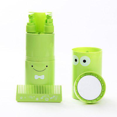 LEEHUR Outdoor Travel Wash Set Included Wash Cup Bottled Comb Mirror Toothbrush Towel Creative