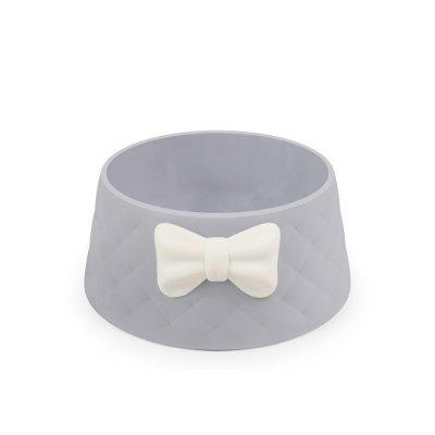 LEEHUR Pet Dog Feeding Food Bowls Puppy Lovely Bowknot Feeder Candy-colored pet plastic bowl
