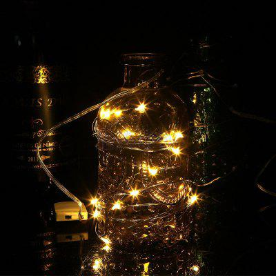 LEEHUR  1m Copper Wire LED String lights For Christmas Tree Wedding Party Decoration