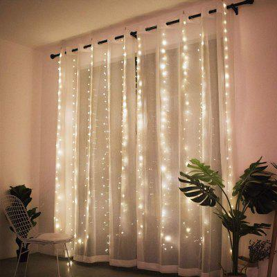 3M LED Curtain Lamp USB String Lights Remote Control Warm White Multicolor Fairy Light garland