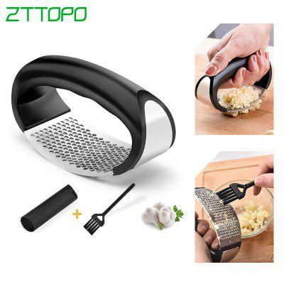 LEEHUR 3pcs Stainless Steel Garlic Press Multi-function Manual Cutter Garlic Presses