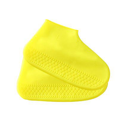 leeHUR 1Pair Waterproof Shoe Cover Anti-Slip Silicone Unisex Shoes Protectors for Outdoor Rainy Days