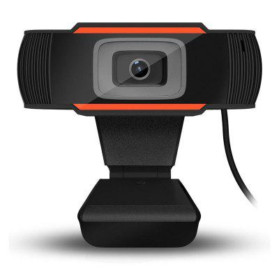 leeHUR 480P USB2.0 Web Cam Webcam HD Adjustable Autofocus 12MP PC Camera Video Web Cam Built-in Mic
