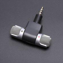 leeHUR 3.5mm Micrófono estéreo de audio Mini micrófono Grabador de voz estéreo Plug and Play para teléfono PC