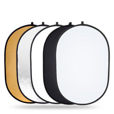 leeHUR 60x90cm Portable Oval Reflector Collapsible Camera Tools Handhold Lighting Multi Disc Diffuer