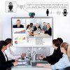 leeHUR 480P V3 USB Computer Webcam Video Call Web Camera Clip with Microphone Black-Silver