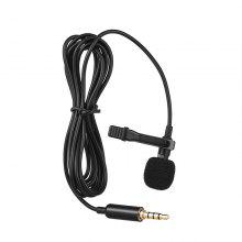 leeHUR draagbare 3,5 mm mini microfoon microfoon handsfree clip-on mini audio microfoon voor pc laptop