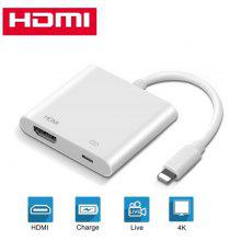 leeHUR 4K 1080P HDMI-kabeladapter HD TV-projektoromvandlare för Apple Lightning Port