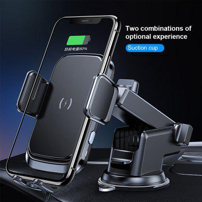 X7 10W Wireless Charger Car Clip Phone Holder Stand Suction Cup Air Vent Phone Mount