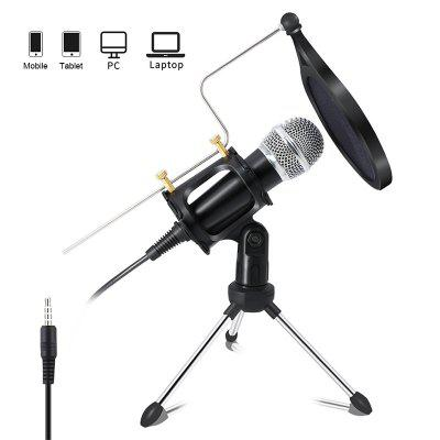 3.5mm Jack MicroPhone Condenser Recording Mic for Computer PC Karaoke Mobile Phone