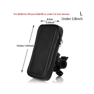 Bicycle Phone Bag Handlebar Phone Holder Mount Mountain MTB Bike Motorcycle Phone Stand Support Pouch for 5-6.5inch Phones