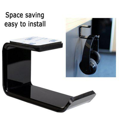 Acrylic Headphone Bracket Wall Desk Table Headset Hanger Mount Holder Earphone Hook Stand