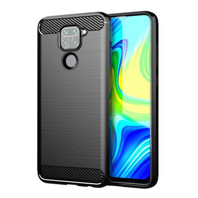 LEEHUR Carbon Fiber Phone Case Cover Shockproof Protector Durable Flex Bumper House for Redmi NOTE 9
