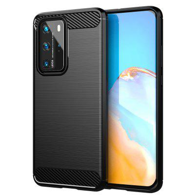 Carbon Fiber Phone Case Cover Shockproof Protector Durable Flex Bumper House for Huawei P40 Pro