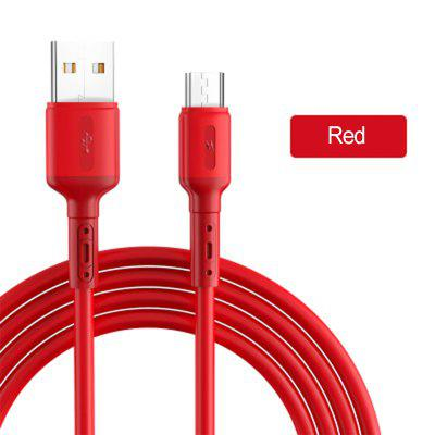 Liquid Silicone 3A Fast Charge Cable Micro USB Type C Cable for iPhone Samsung Xiaomi Huawei Charging Data Cable