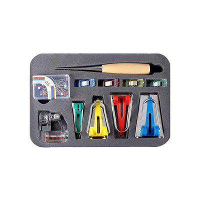 DIY Sewing Tool Patchwork Quilting Binding Sew Machine Tools sets Tape Maker Binder Foot Wooden Awl Clips Pins Kits
