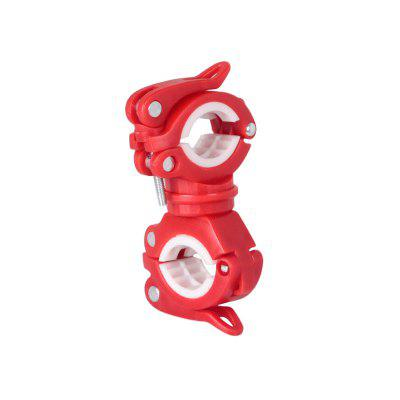 Bicycle Light Bracket Bike Lamp Holder LED Torch Headlight Pump Stand Quick Release Mount 360 Degree Rotatable