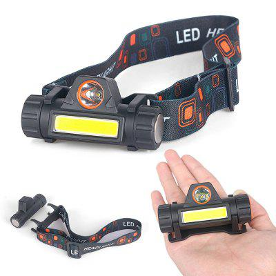 LED Headlamp Magnetic USB Rechargeable Headlight for Camping Hiking Running Cycling