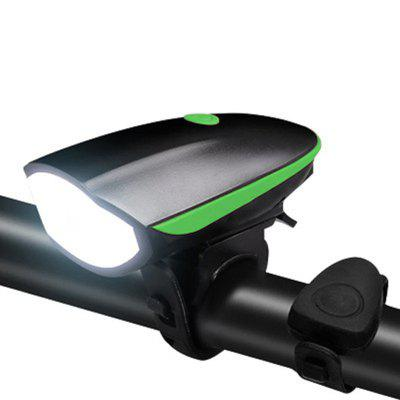 Bicycle Light Waterproof MTB Bike Horn USB Rechargeable LED Headlight Safety Warning Cycling  Lamp