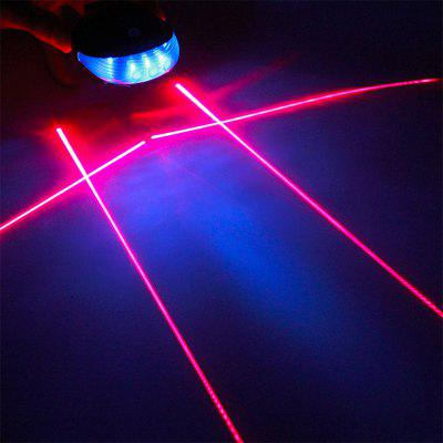 5 LED Laser Beam MTB Bike Rear Tail Light Bicycle Warning Lamp