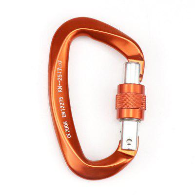 1PC 25KN Professional Climbing Carabiner D Shape Buckle Lock Security Safety Outdoor Equipment Accessories
