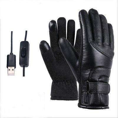 Winter Electric Heated Gloves Windproof Cycling Warm Heating Touch Screen USB Powered for Men Women