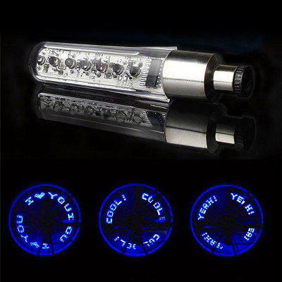 1PC Bicycle Wheel Tire Valve Cool LED Letter Light Double Sense Bike Tyre Cycling Accessories