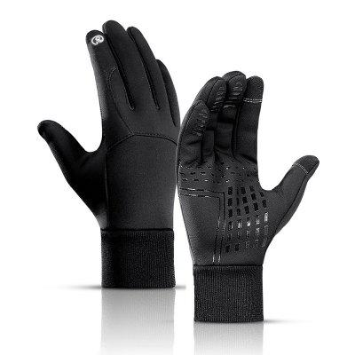 1 Pair Cycling Gloves Touch Screen Winter Warm Full Finger Bicycle