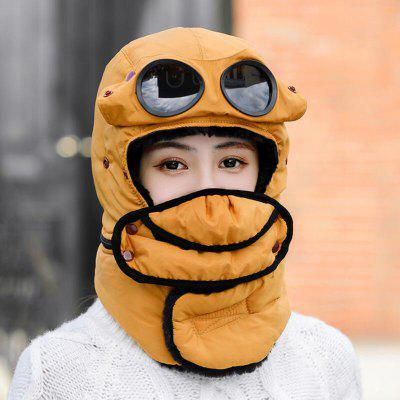 2020 Bicycle Windproof Mask Fashion Winter Warm Cap Hats With Glasses for Outdoor Cycling Ski Sports