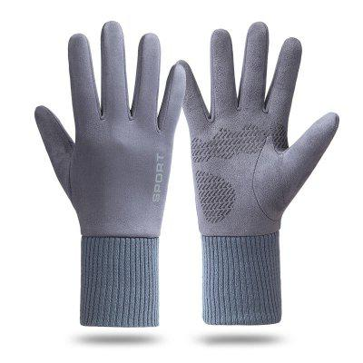 1 Pair Winter Men Gloves Outdoor Cycling Keep Warm Touch Screen for Bicycle Motorcycle Full Finger Windproof Cold