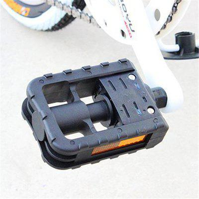 1Pair Bike Pedals Plastic Non-slip Durable Foldable Bicycle Pedal Mountain Road Accessories
