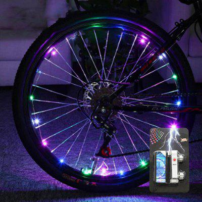 Cool Bicycle Spoke Light 20LED String Night Riding Decorative Lights Safety Warning Cycling Lamp