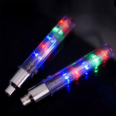 2PCS Bicycle Light 5LED Multicolor Wheel Spoke Lamp Bike Tire Tyre Valve with Batteries Cycling Accessories
