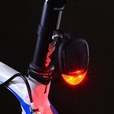 Solar Power LED Bike Rear Light Bicycle Night Cycling Safety Warning Tail Adjustable Flashing Lamp