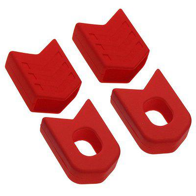 1 Set MTB Road Bike Crank Arm Protector Cover Crankset Cap Bicycle Boots Dust Proof Silicone Protective