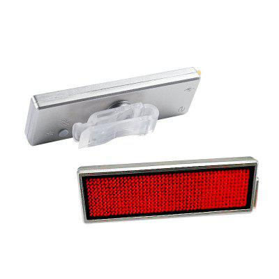 1PC USB Rechargeable DIY LED Bicycle Taillight Electronic Display Badge Advertising Screen Bike Light Cycling Lamp