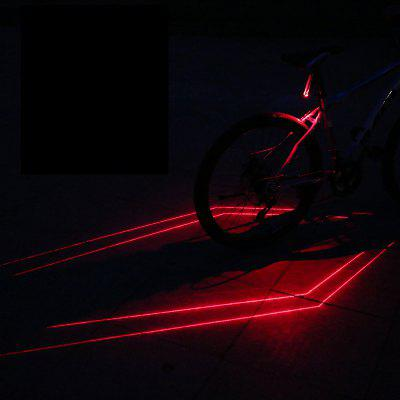 Folding Laser Bike Light USB Rechargeable Front Rear Warning Waterproof Cycling Tail Lamp