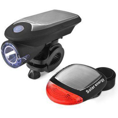 Solar Bike Light USB Rechargeable Bicycle Headlight Front Powered Tail