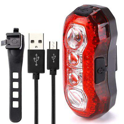 Bike Taillight USB Rechargeable Rear Tail Light Easy Install 5 Modes Bicycle Safety Warning Lamp Cycling Accessories