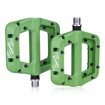 1Pair Nylon Fiber Bicycle Pedal MTB Road Bike Flat 9/16 Inch Bearing Pedals Mountain Cycling Accessories