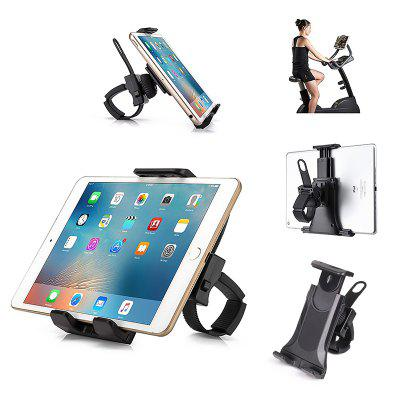 Bicycle Phone Stand Bike Handlebar Clip Mount Adjustable Gym Treadmill Sports Tablet Holder Bracket for iPad iPhone Xiaomi 4.7-10.5 inch