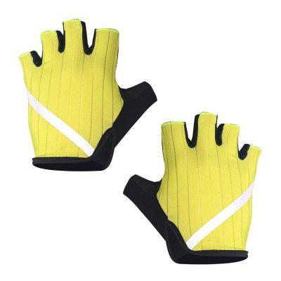 Bicycle Gloves Half Finger Breathable High Reflective Anti Slip for Men Women Outdoor Cycling Sports