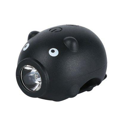 Bicycle Lights USB Rechargeable Child Bike Lights with 5 Molde Horn MTB Bike Front Rear Light Cute Pig Cycling Safety Headlight